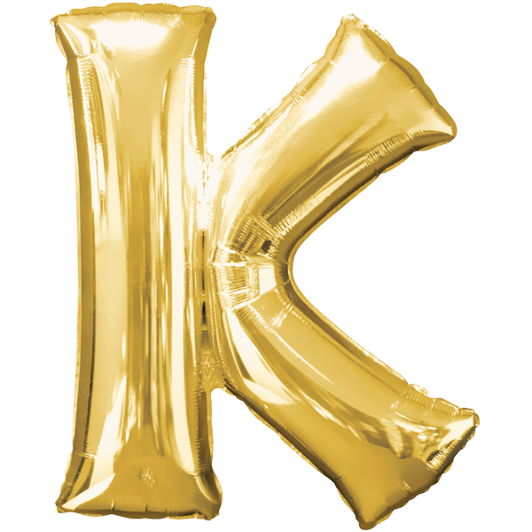 """K"" Gold Folienballon"