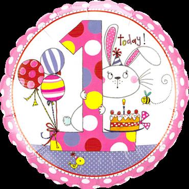 1. Geburtstag Folienballon Baby Girl
