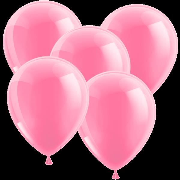 100 Luftballons aus Latex - Metallic Pink 30cm - Rund