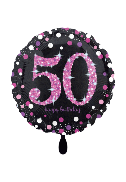 Pink Celebration 50 Folienballon