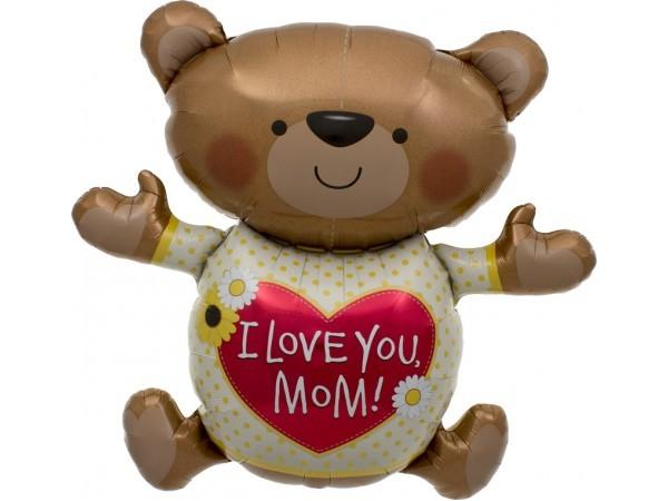 """""""I love you"""" Teddybär Folienballon"""