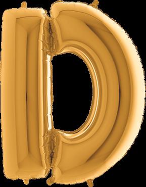 Buchstabenballon XXL Gold D