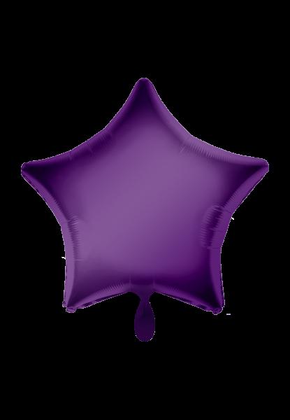 Stern Lila Folienballon