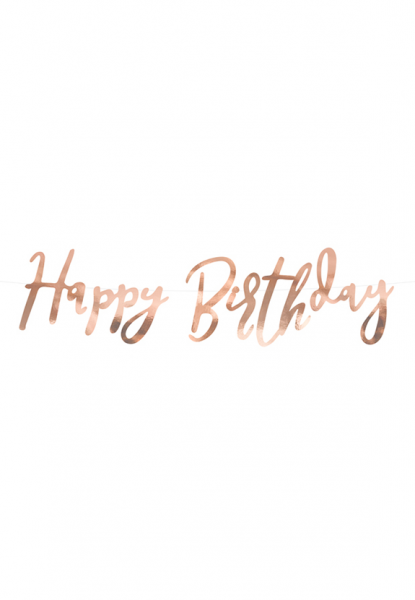 Bannergirlande - Happy Birthday - Rosegold