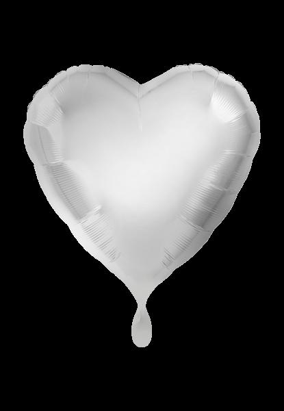 Herz Silber Folienballon