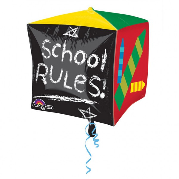 "Cubez ""School Rules""Folienballon"