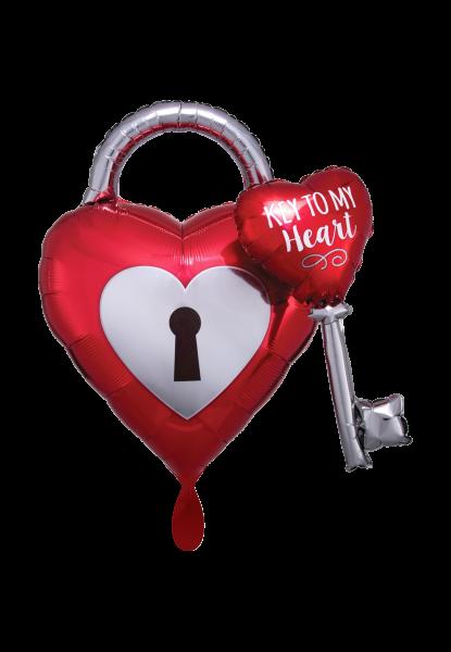 Ballon XXL - Key to My Heart Folienballon