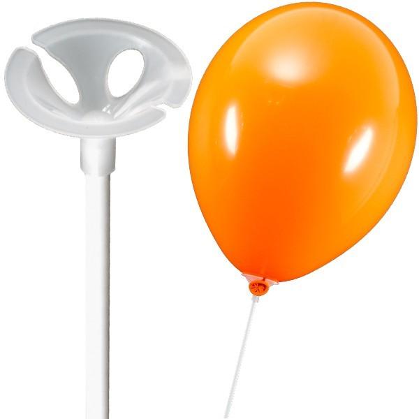 100 Stück Luftballonstäbe - Patentstäbe - Weiß