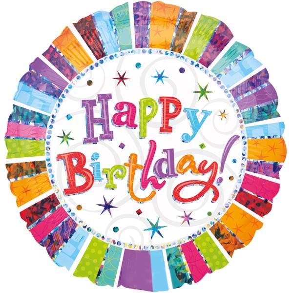 "Holografisch bunter ""happy Birthday"" Folienballon"