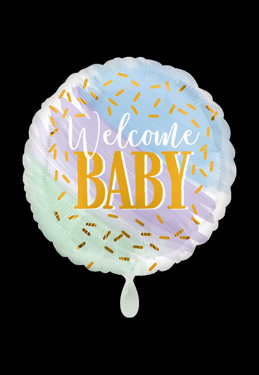 Watercolor Welcome Baby Folienballon