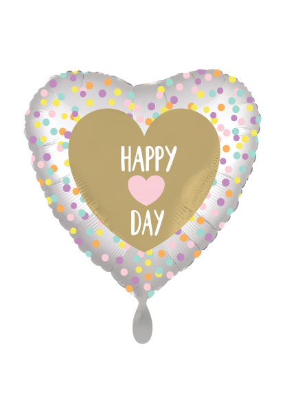 Happy Heart Day - Folienballon