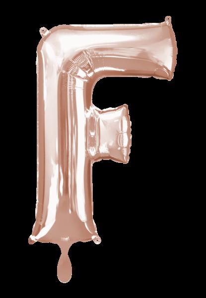 Buchstabenballon F XXL Roségold