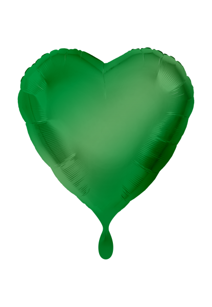 Satin Luxe Herz Grün Folienballon