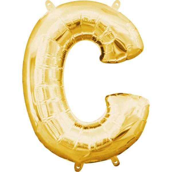 Buchstabe C Gold Folienballon