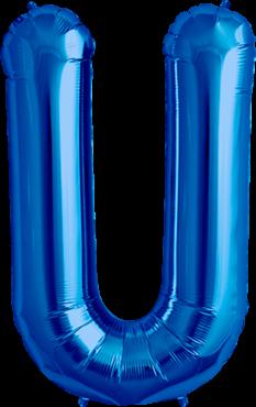 Buchstabe XXL - U - Blau - Folienballon