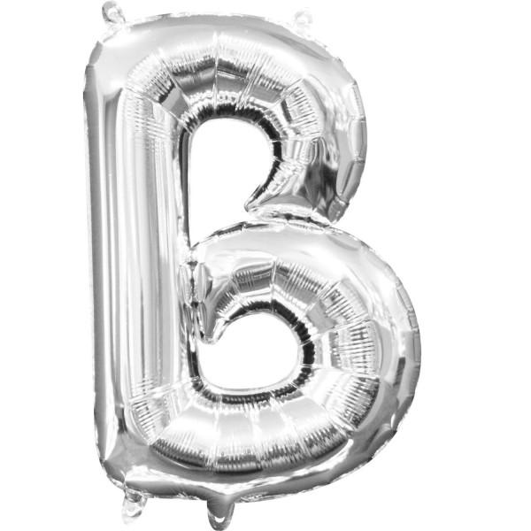 Buchstabe B Silber Folienballon