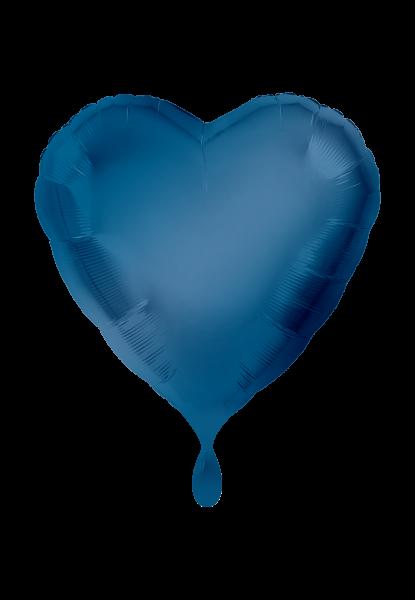 Herz Blau Folienballon