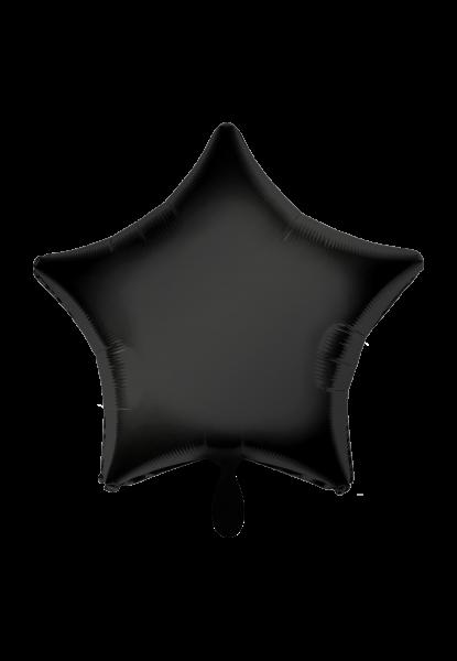 Satin Luxe Stern Schwarz Folienballon