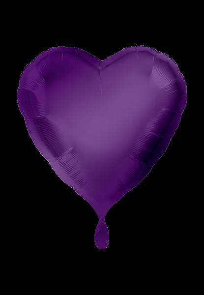 Herz Lila Folienballoon
