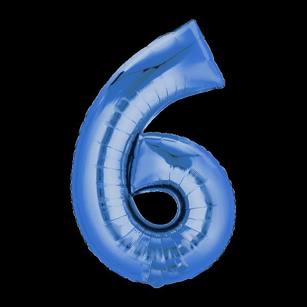 Zahlenballon XXL Blau 6