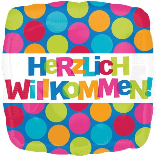 """Herzlich Willkommen"" Folienballon"