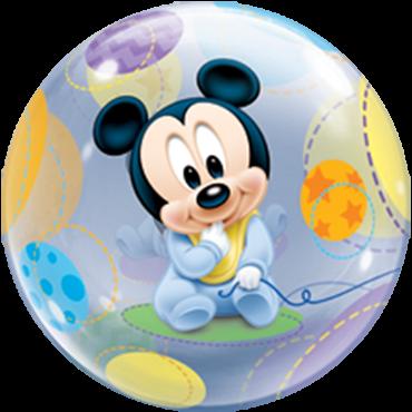Baby Mickey Single Bubble Folienballon