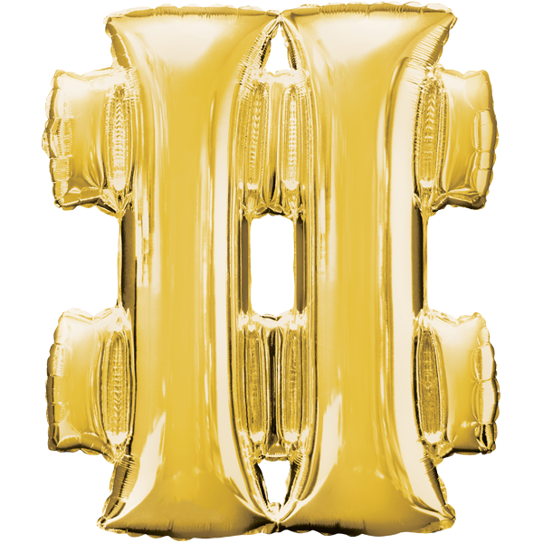 Symbol # Gold Folienballon