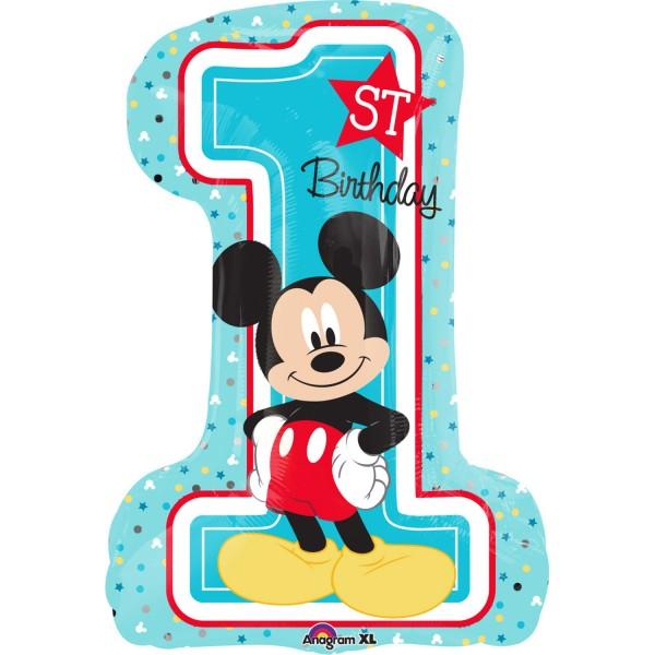 """Micky - 1. Geburtstag"" Folienballon"