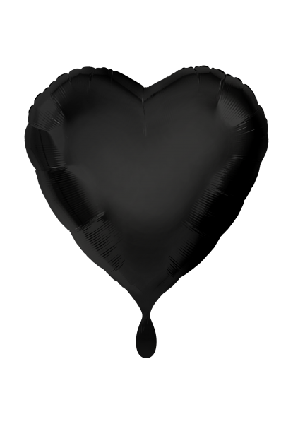 Herz Schwarz Folienballon