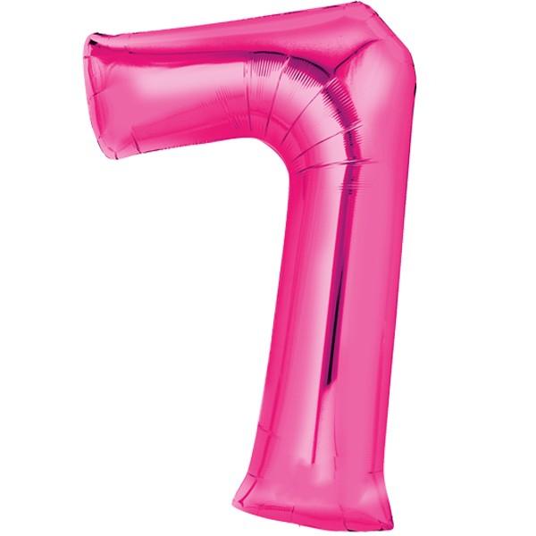 Zahlenballon XXL Pink 7