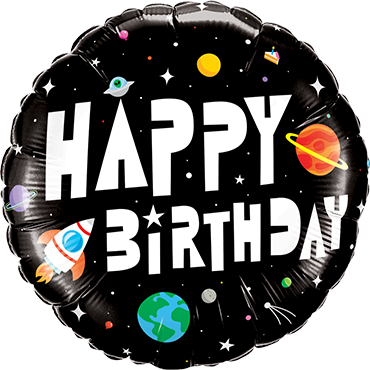Geburtstag Astronaut Folienballon