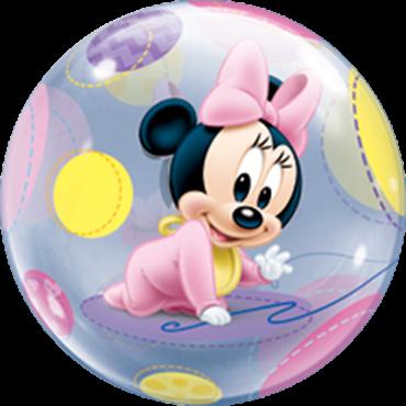 Baby Minnie Bubble Folienballon
