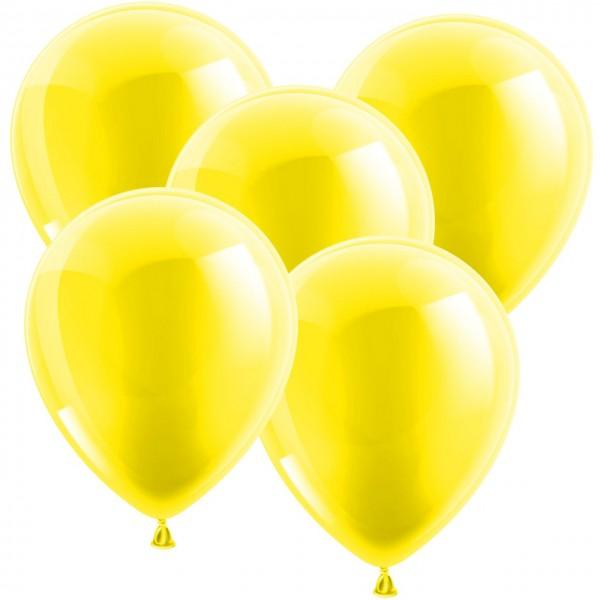 100 Latex Luftballons - Metallic Gelb 30cm - Rund