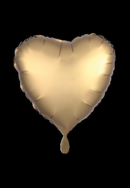Satin Luxe Herz Gold Folienballon