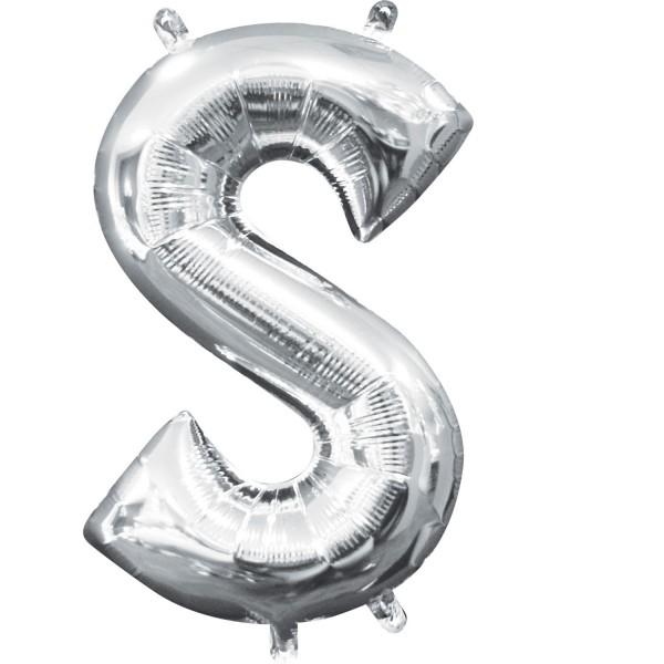 Buchstabe S Silber Folienballon