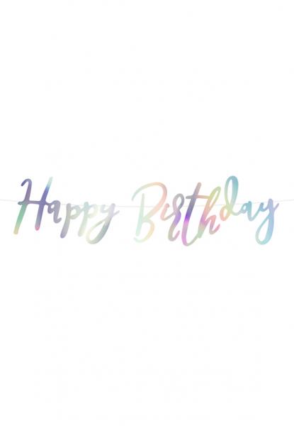 Bannergirlande - Happy Birthday - Iridescent