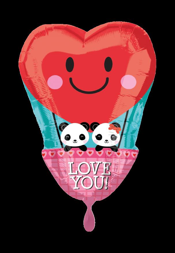 Panda Love Folienballon