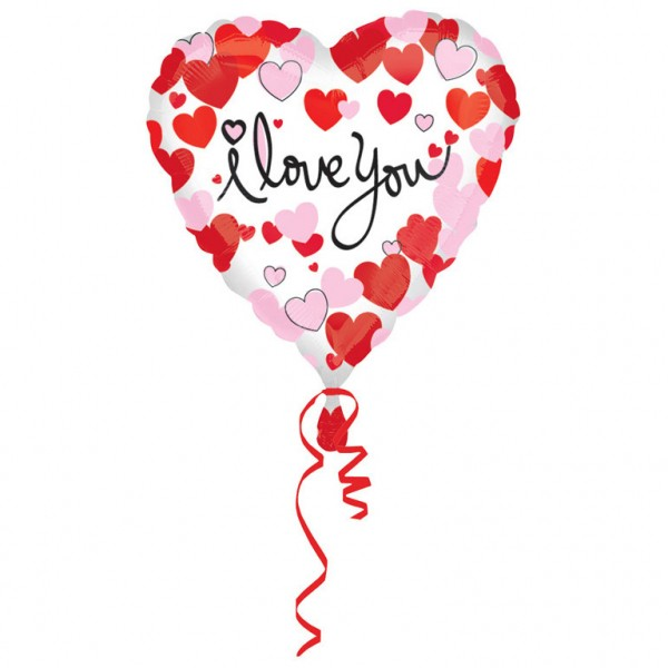 "Herz ""I LOVE YOU"" Folienballon"