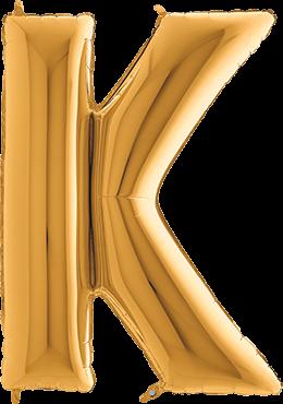 Buchstabenballon Gold XXL K