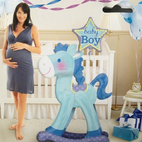 "Geburts-Folieballon ""Baby Boy"" AirWalkers Ballon"