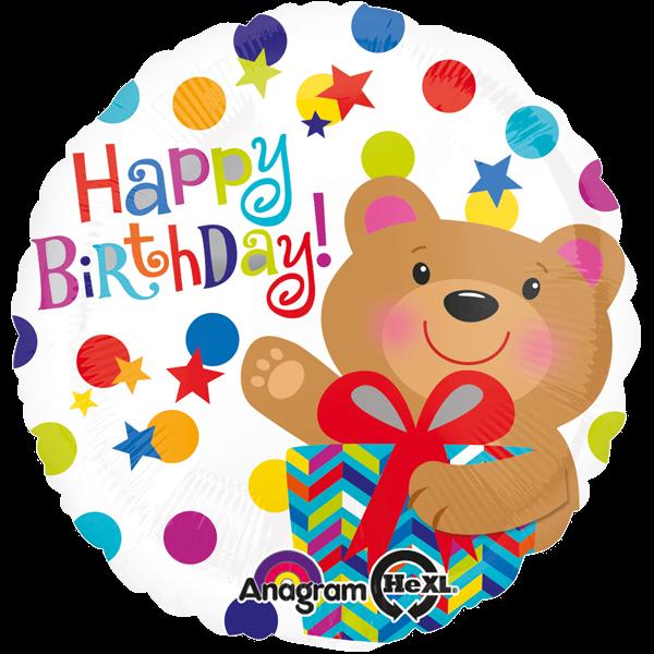 """""""Happy Birthday"""" Geburtstag Ballon Bär"""