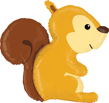Waldeichhörnchen Folienballon