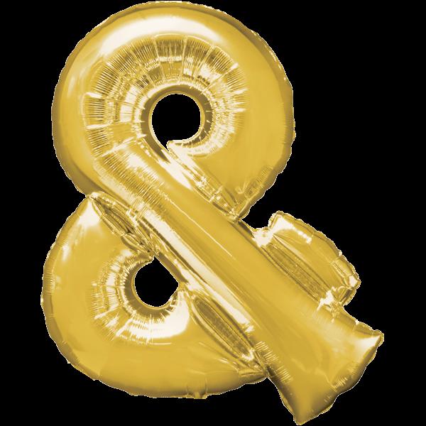 Symbol & Gold Folienballon