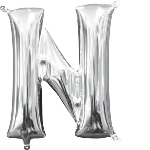 Buchstabe N Silber Folienballon
