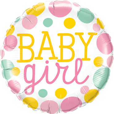 Baby Girl - gepunktet- Folienballon
