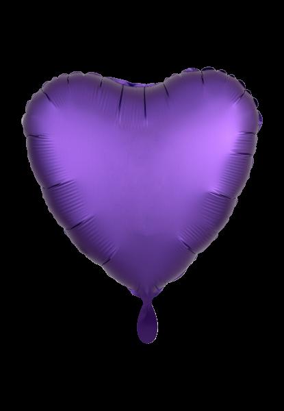Satin Luxe Herz Lila Folienballon