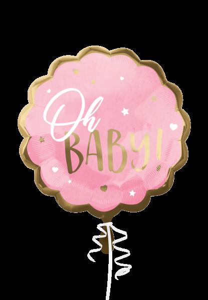 `Oh Baby` Rosa Folienballon