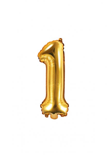 Zahlenballon XS Gold 1