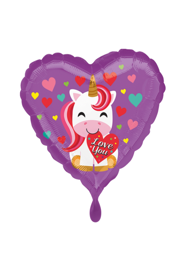 Love You Unicorn Folienballon