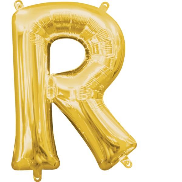 "Buchstabe ""R"" Gold Folienballon"